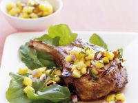 Veal Chops with Peach Salsa recipe