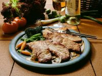 Veal Cutlet with Mushroom Sauce recipe