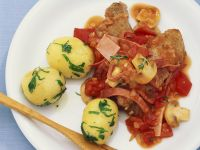 Veal Cutlets with Tomato and Mushroom Sauce recipe