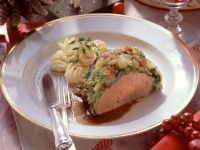 Veal Fillet with Savoy Cabbage and Mashed Potatoes recipe