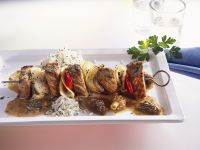 Veal Kabobs with Morels recipe