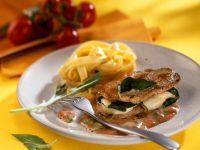 Veal Loin Steaks with Mozzarella recipe