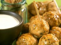 Veal Meatballs with Dip recipe