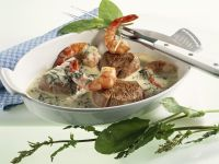 Veal Medallions with Sorrel Cream Sauce recipe
