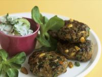 Veal Patties with Cucumber Salad recipe