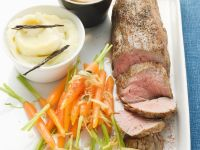 Veal Roast with Cognac Sauce and Cardamom Carrots recipe
