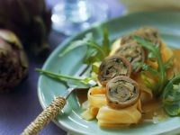 Veal Rolls with Artichoke Filling recipe