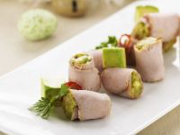 Veal Rolls with Avocado Filling recipe