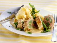Veal Roulades with Green Beans and Noodles recipe