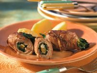 Veal Roulades with Spinach and Pumpkin recipe