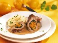 Veal Roulades with Spinach and Pumpkin
