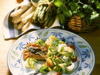 Veal Saltimbocca with Asparagus Salad recipe