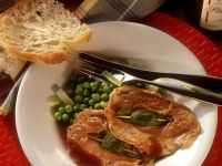 Veal Saltimbocca with Peas recipe