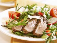 Veal Steak with Arugula Salad recipe
