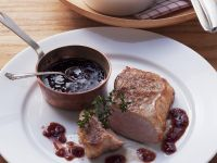 Veal Steak with Port Wine Sauce recipe