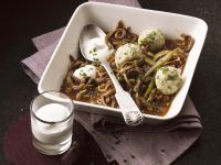 Veal Stew with Marrow Dumplings and Sour Cream recipe