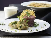 Veal Tartare with Monkfish recipe