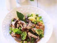 Veal with Peas, Champinons and Cream Sauce recipe