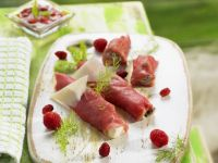 Veal Wraps with Orchard Fruit recipe