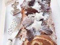 Gluten Free, Dairy Free, Sugar Free Mocha Cream Bûche De Noël recipe