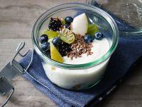 Vegan Flaxseed Fruit Yogurt Cups recipe