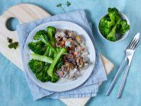 Vegan Mushroom Ragout with Broccoli recipe