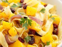 Vegan Tagliatelle with Squash and Shallots recipe