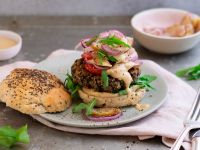Vegan Walnut Mushroom Burger recipe