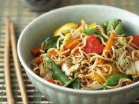 Vegetable and Egg Noodle Stir-Fry recipe