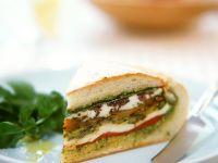 Vegetable and Mozzarella Sandwich recipe