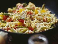 Vegetable and Poultry Pasta Stir Fry recipe