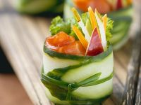 Vegetable and Salmon Rolls recipe