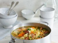 Vegetable, Bacon and Lentil Soup recipe