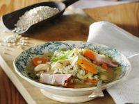 Vegetable-Barley Stew with Pancetta recipe