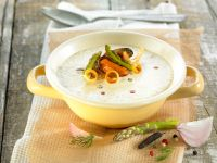 Vegetable Bisque with Seafood recipe