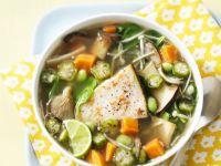 Vegetable Broth with Swordfish recipe