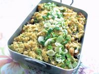 Vegetable Casserole with Turkey and Rice recipe