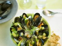 Vegetable Clam Soup with Gooseberries recipe