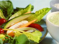 Vegetable Crudite with Two Dips recipe