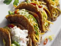 Vegetable-Filled Crepes with Yogurt Sauce recipe