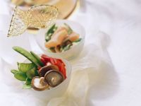 Vegetable Fondue with Salmon recipe