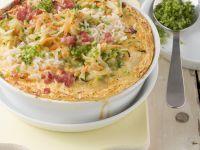 Cheesy Ham and Veg Gratin recipe