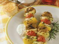 Vegetable Kebabs with Herb Dip recipe