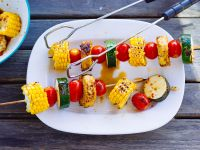 Vegetable Kebabs with Zucchini, Tomato and Corn recipe