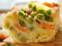 Pea and Carrot Vegetarian Lasagne recipe
