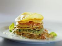 Vegetable Lasagna Stacks with 3 Sauces recipe