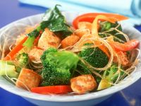 Vegetable Noodle Stir-Fry with Tofu recipe