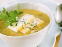 Vegetable Pear Soup with Cheese recipe
