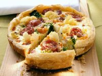 Ham and Brassica Tart recipe
