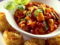 Vegetable Ragout with Potato Pancakes recipe